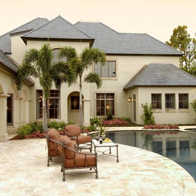 Natural Stone Used Near Pool | Outside Productions International