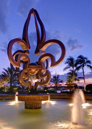 Naples, Florida Fountain Landscape Architects | Outside Productions International Landscape Architect Florida