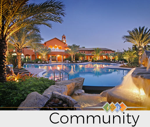 Community Florida Pool Designed by Outside Productions International | Landscape Architect Florida